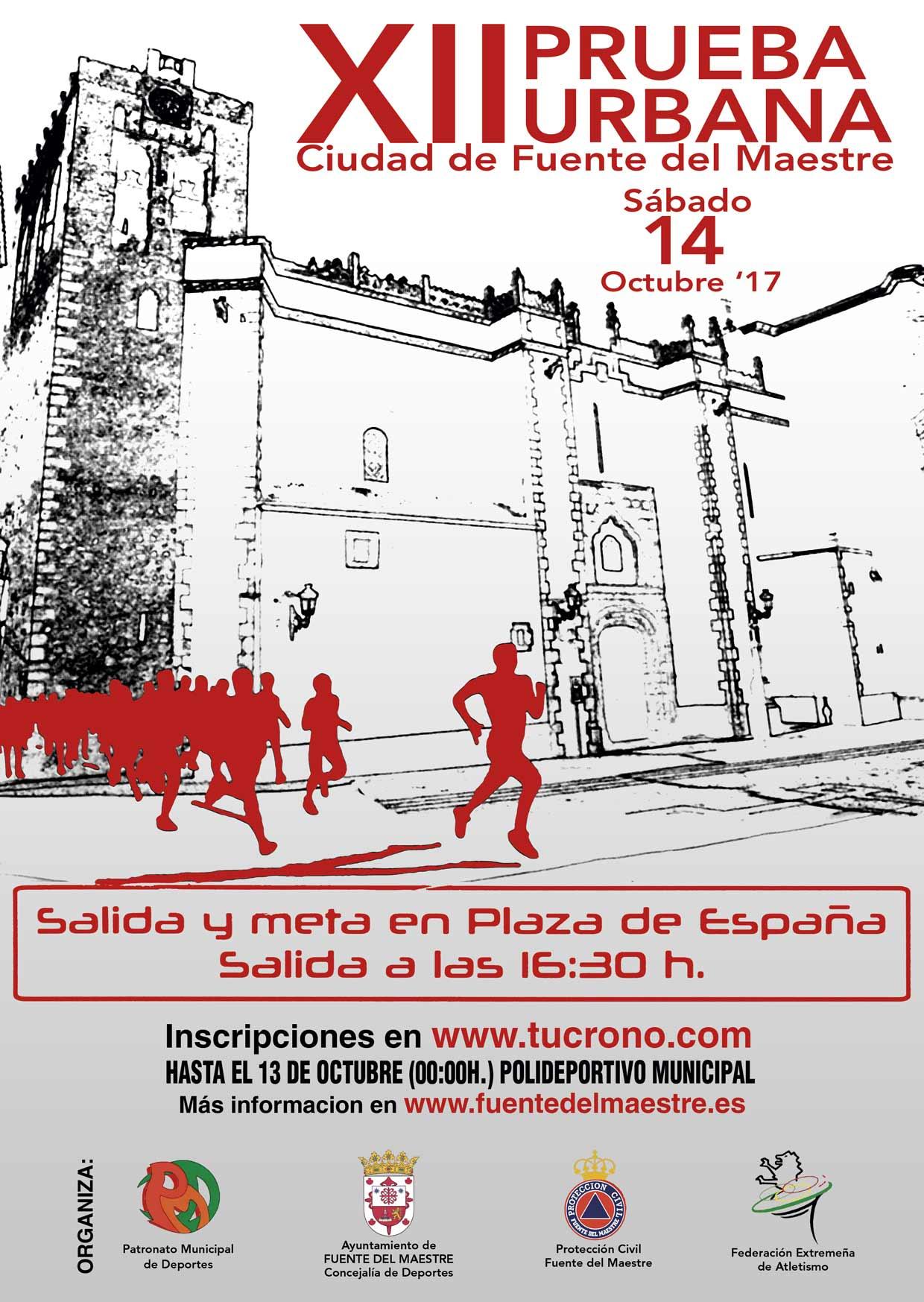 El Sabado 14 De Octubre Se Celebra La Xii Prueba Urbana Ciudad De Fuente Del Maestre Radio Hornachos