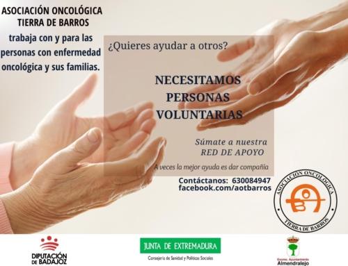 ALMENDRALEJO – La Asociación Oncológica inicia una campaña de captación de voluntarios para colaborar con los enfermos y las familias