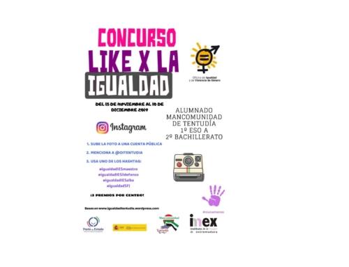 """TENTUDÍA – La Oficina de Igualdad y Violencia de Género de la Mancomunidad lanza el concurso """"Like por la Igualdad"""""""