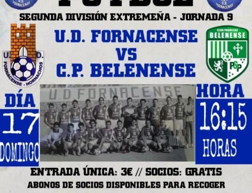 """HORNACHOS – Este domingo de nuevo llega el fútbol a """"Los Tomillares"""", con el partido Fornacense, Belenense."""