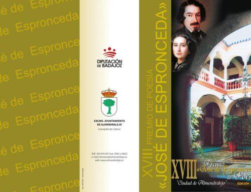 ALMENDRALEJO – Aplazado el fallo del XVIII Premio de Poesía José de Espronceda y el III Certamen de Jóvenes Intérpretes