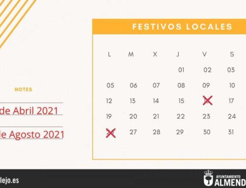 ALMENDRALEJO – El pleno aprueba el 26 de Abril y el 16 de Agosto como festivos locales para el 2021