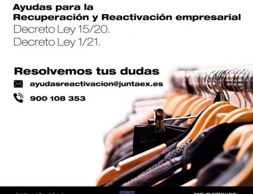 REGIÓN – La Junta de Extremadura habilita un sistema de información de las ayudas para la reactivación empresarial