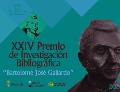 CULTURA – Abierto el plazo para la presentación de trabajos del Premio Bartolomé J. Gallardo