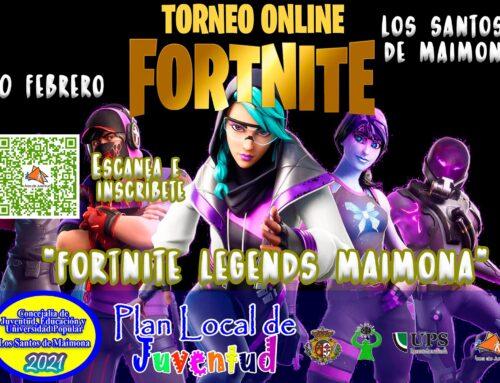 """LOS SANTOS DE MAIMONA – Abierto el plazo de inscripción en el primer torneo online """"Fortnite Legends Maimona""""."""