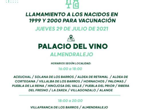 ATENCIÓN ‼️‼️ VACUNACIÓN MASIVA AREA DE SALUD MERIDA NACIDOS 1999 y 2000