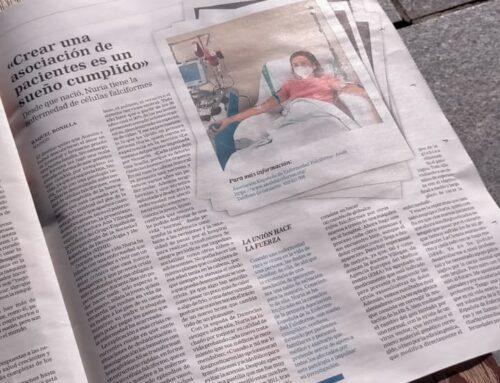 """SOCIEDAD – La hornachega Nuria Machio Martos hoy en las páginas del periódico La Razón. """"Crear una asociación de pacientes es un sueño cumplido"""""""