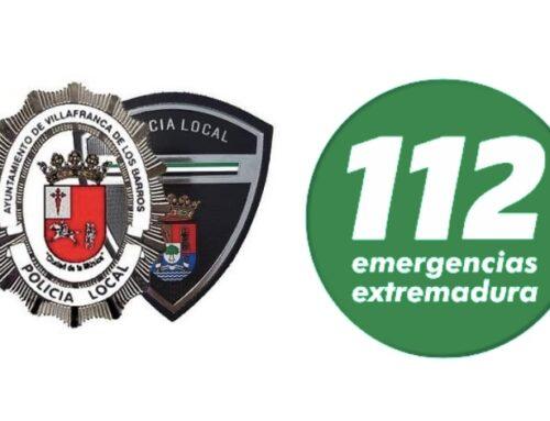 VILLAFRANCA DE LOS BARROS – La Policía Municipal solicitan a los vecinos evitar desplazamientos innecesarios debido a fuertes lluvias
