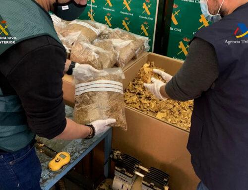ORDEN PÚBLICO – Desmantelado en una vivienda de Badajoz un punto de recepción, procesado, distribución y venta clandestina de picadura de tabaco