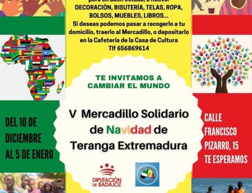 """VILLAFRANCA DE LOS BARROS – La ONG """"Teranga Extremadura"""" celebra un mercadillo solidario"""